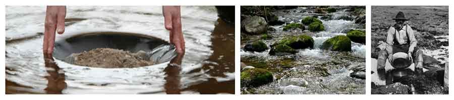 regler för att vaska guld Collage-Guldvaskning 1