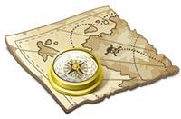 Gammal-karta platser för metalldetektor