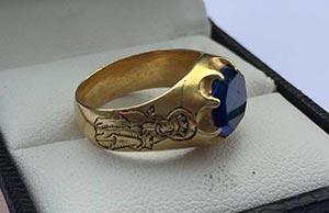 Metalldetektorfynd medeltida ring
