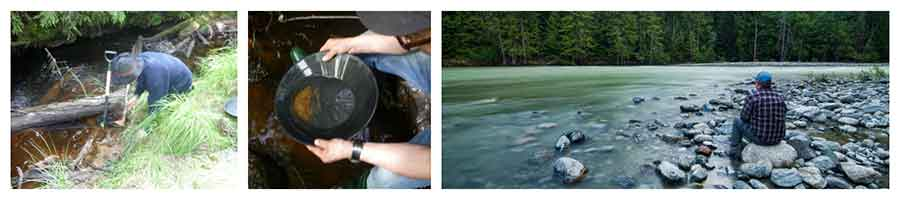 Gold panning Sweden collage 2