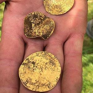 guld och silvermynt från The Hambleden Hoard