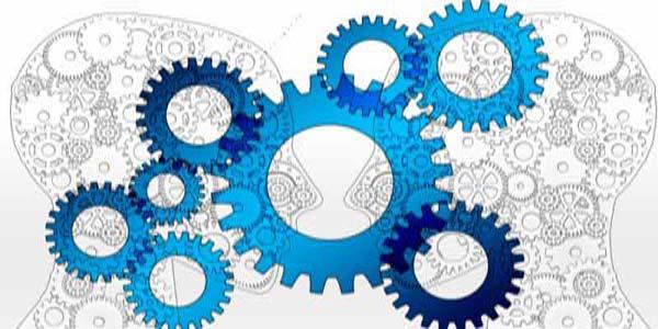profil på 2 personae och kugghjul i Metalldetektor tillstånd