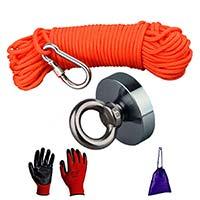 Magnetfiske kit Utrustning för Metalldetektor & Guldvaskning